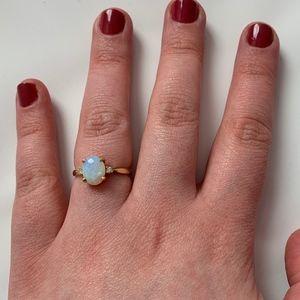 Vintage Baden and Foss Stamped 14K Gold Opal Ring